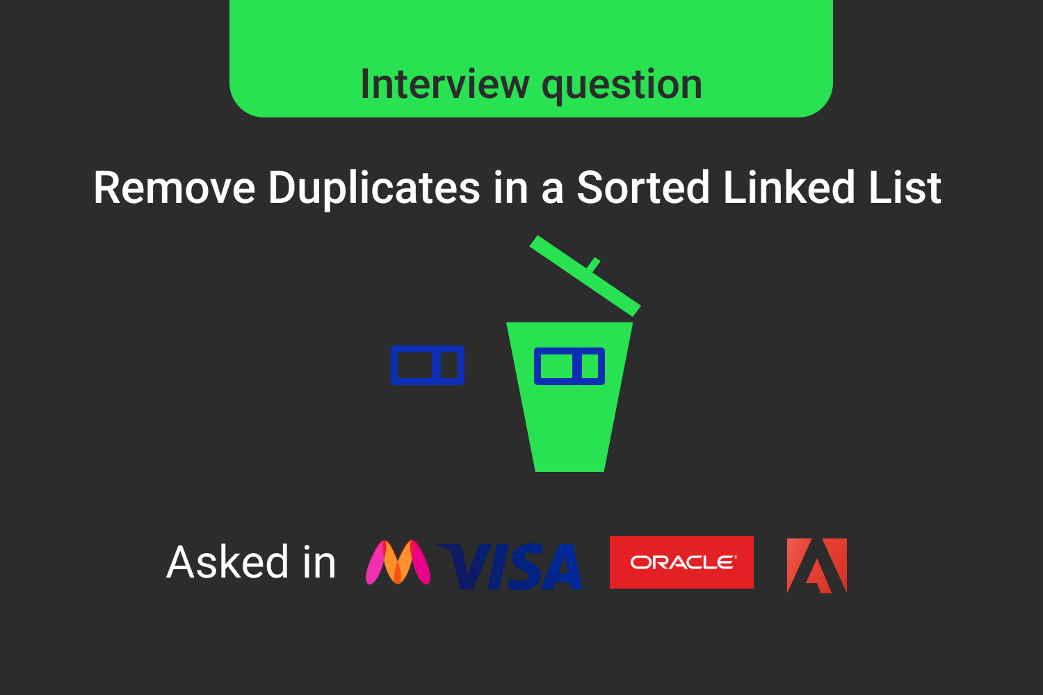 Remove Duplicates From a Sorted Linked List-Interview Problem