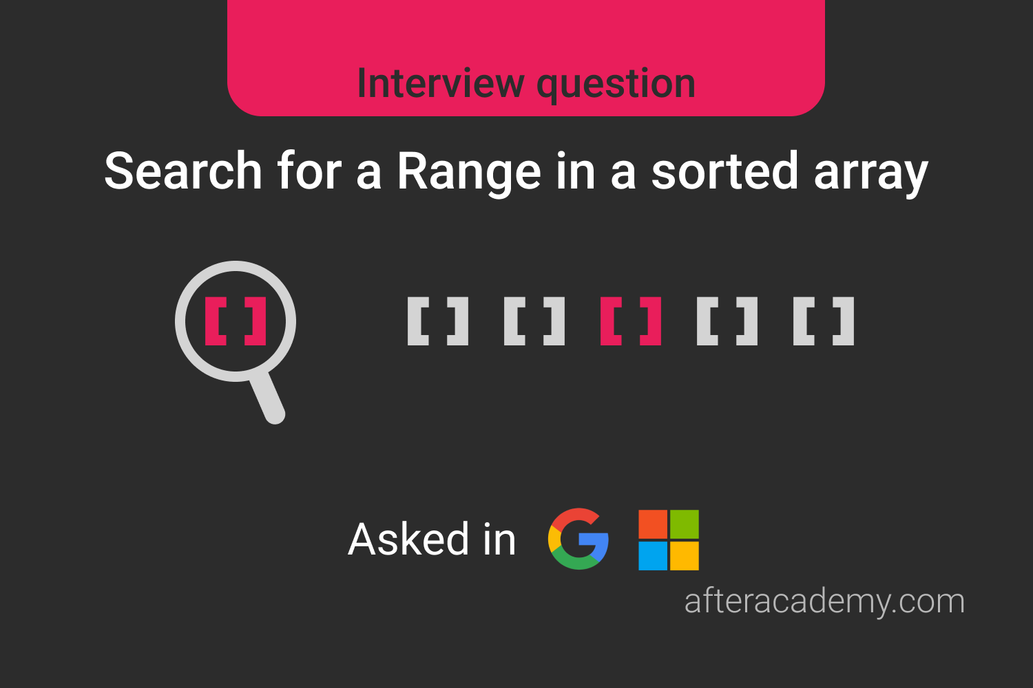 Search For A Range In Sorted Array