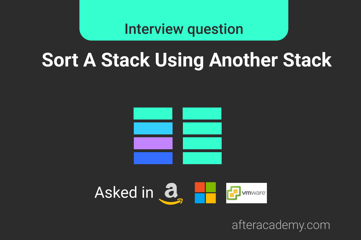 Sort A Stack Using Another Stack