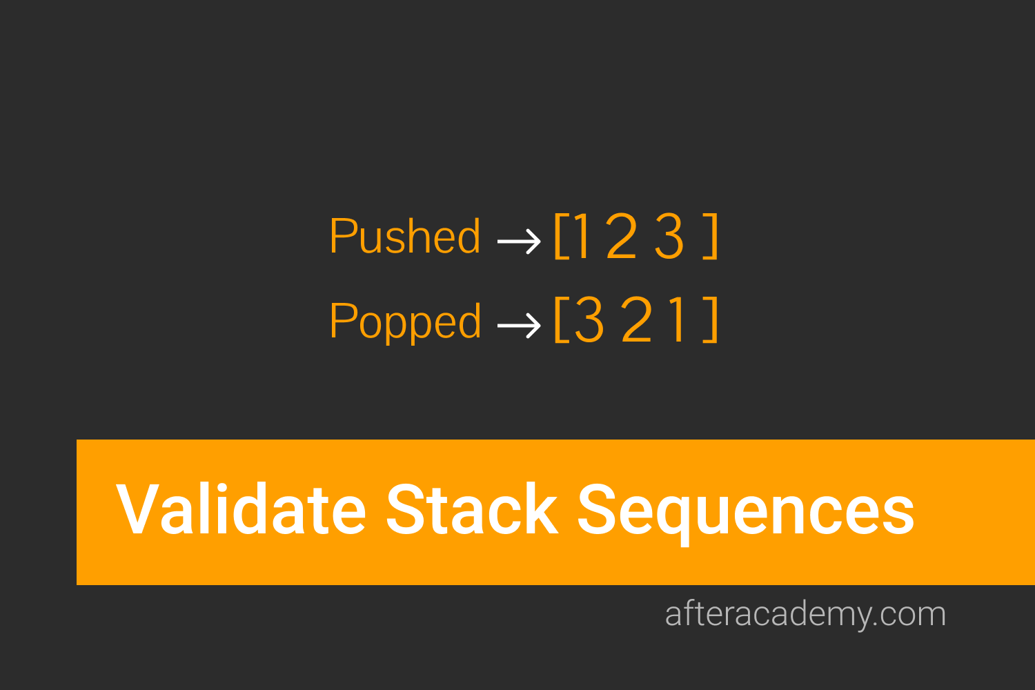 Validate Stack Sequences