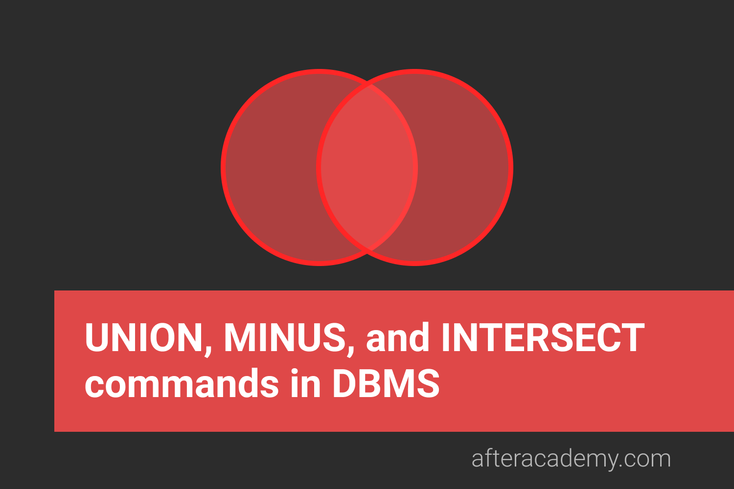 What are UNION, MINUS, and INTERSECT commands in DBMS?