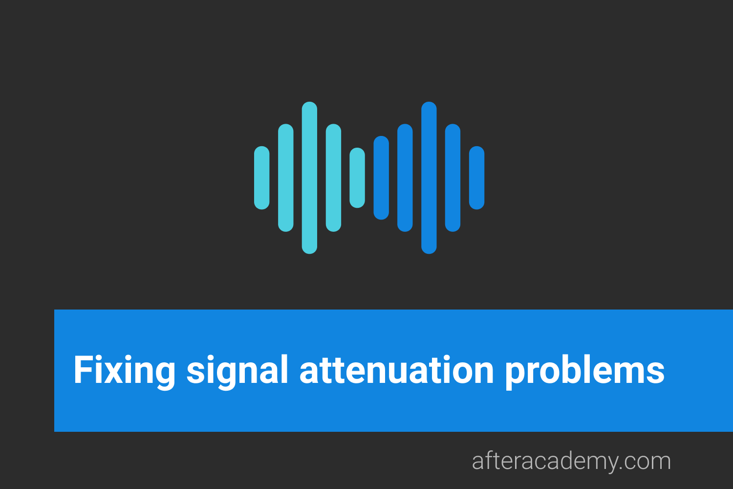 What can be done to fix signal attenuation problems?