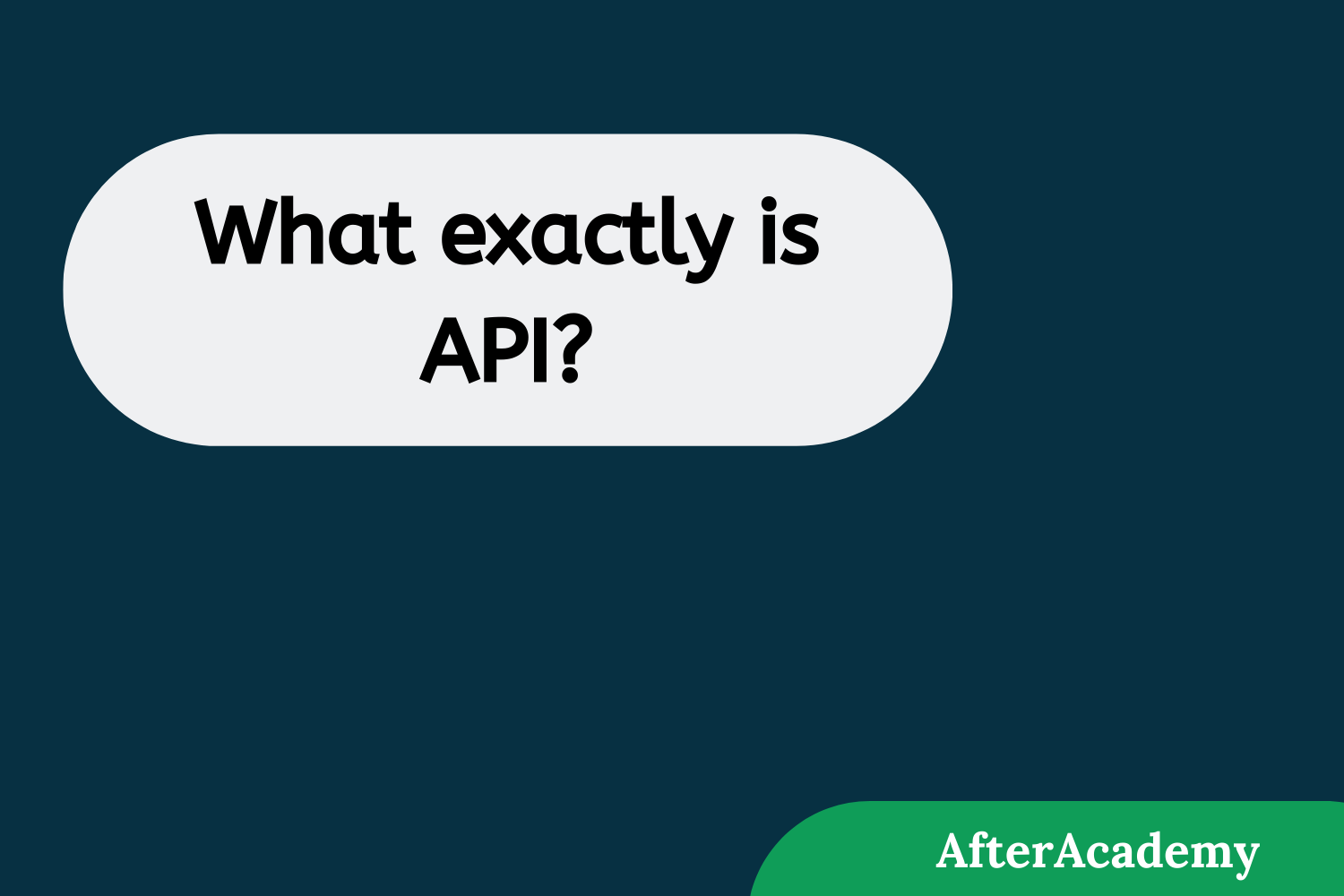 What exactly is API?
