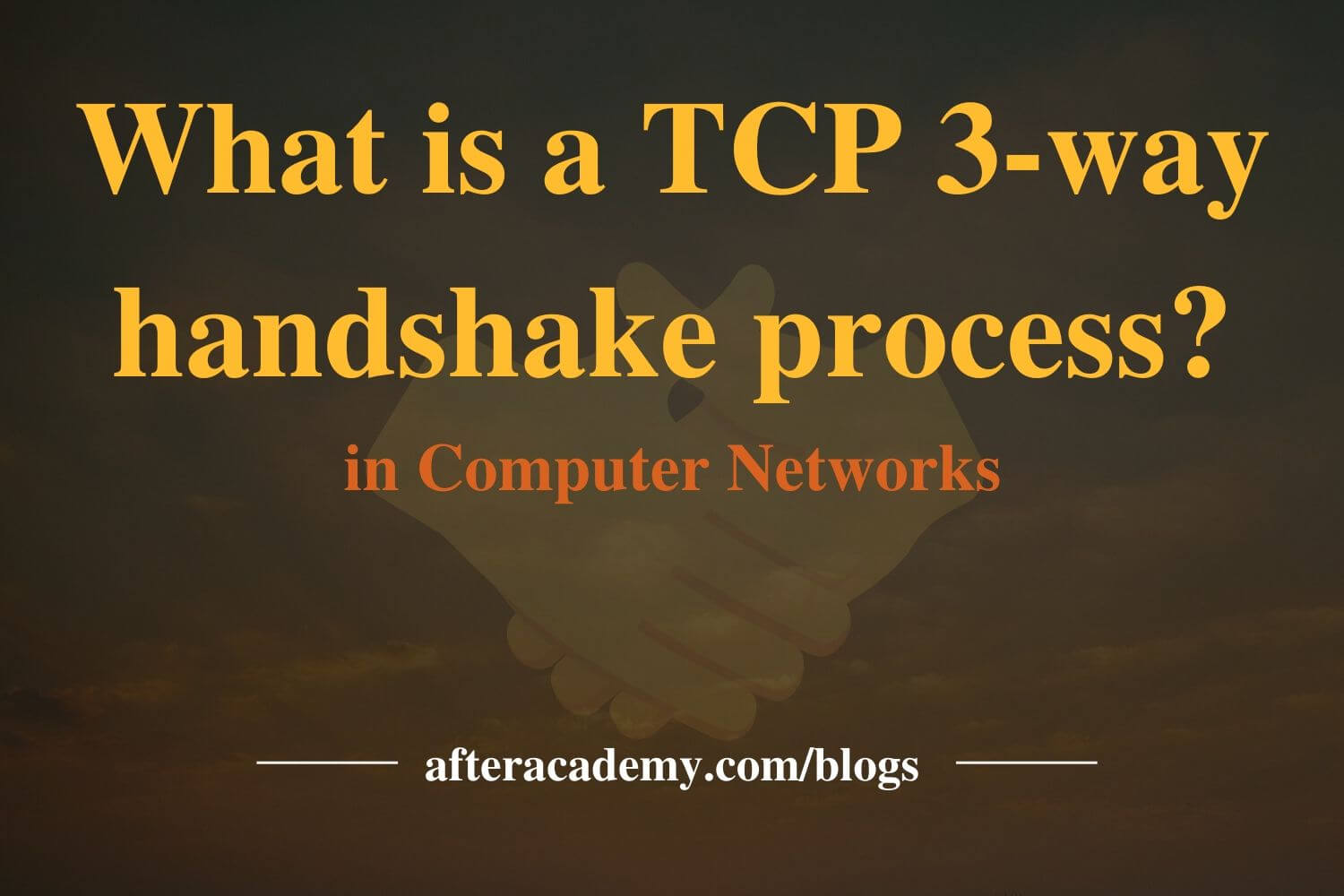 What is a TCP 3-way handshake process?