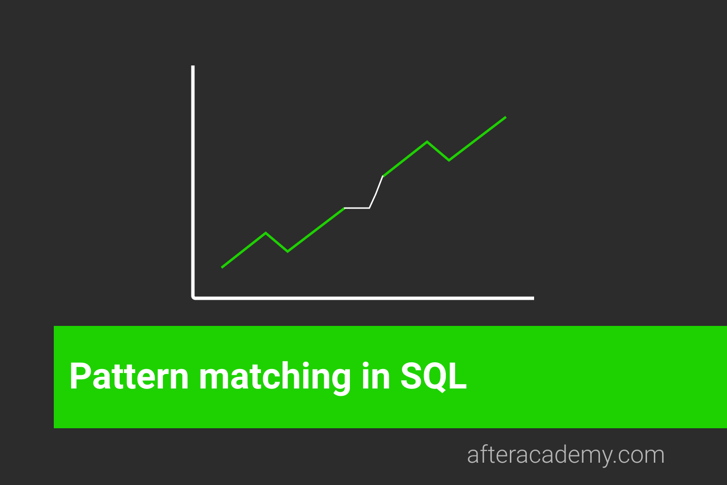 What is Pattern matching in SQL and how it is done?