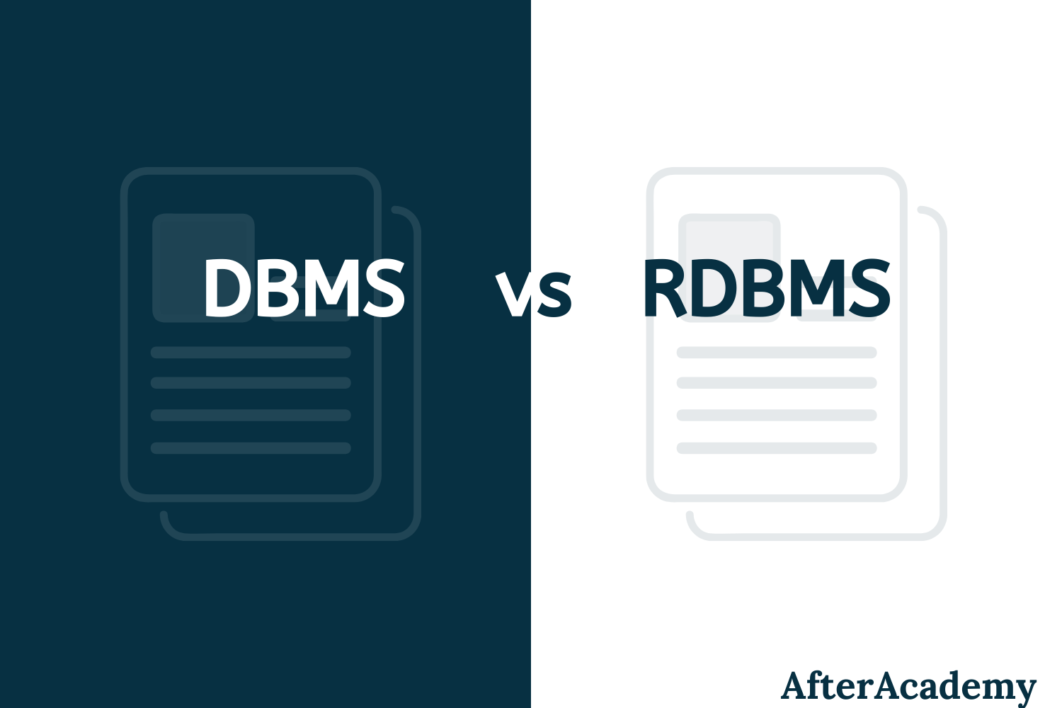What is the difference between DBMS and RDBMS?