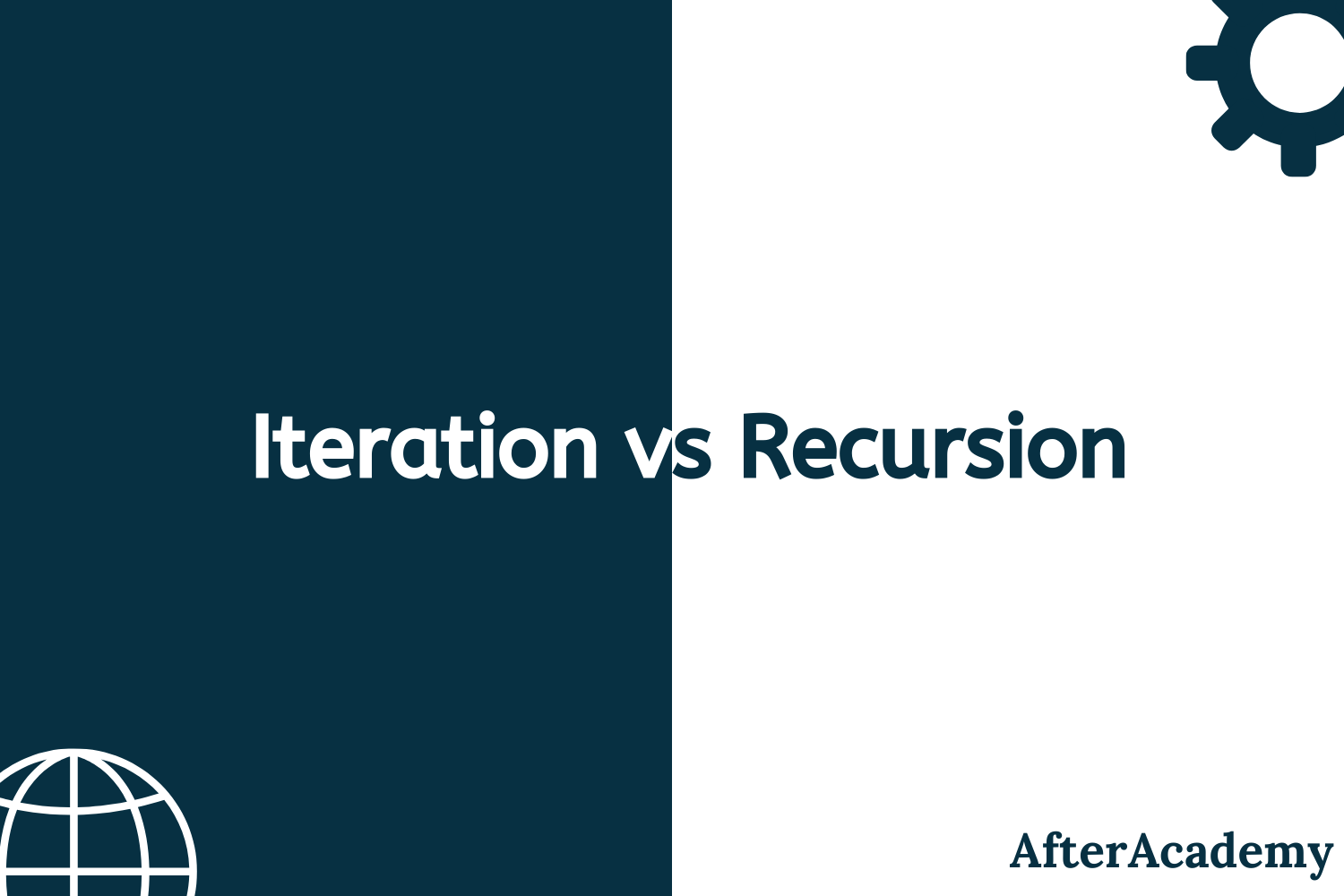 What is the difference between iteration and recursion?