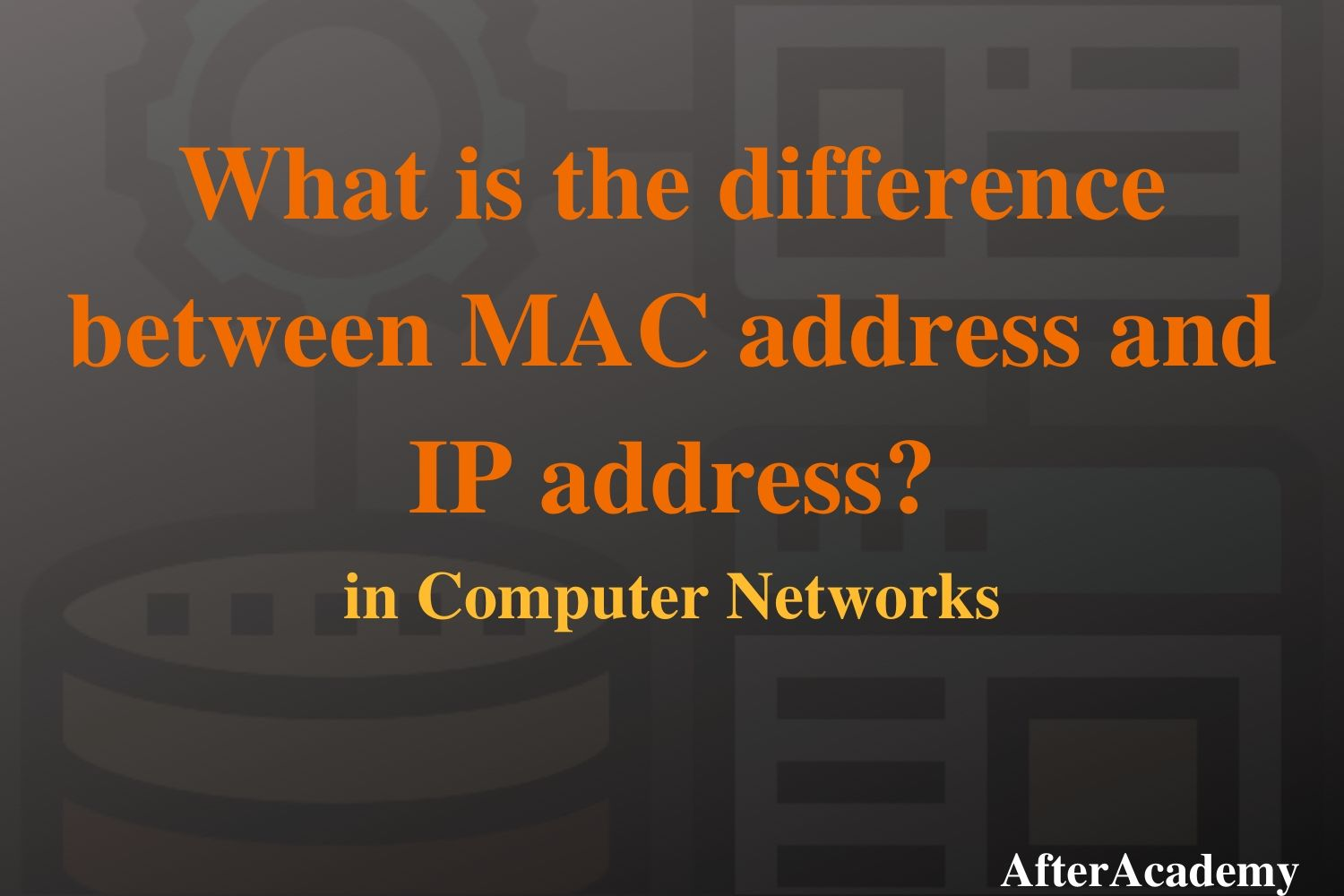 What is the difference between MAC address and IP address?