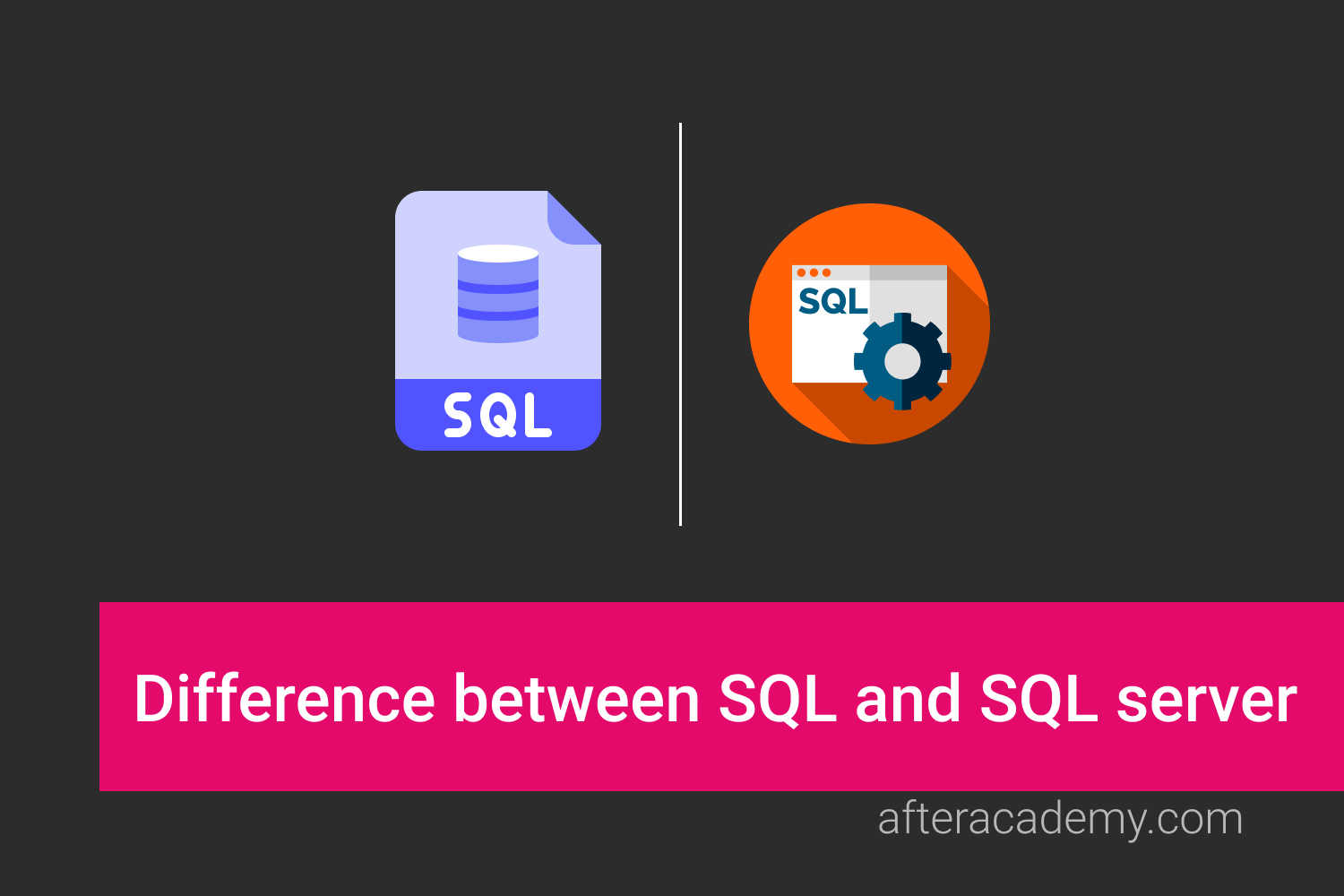 What is the difference between SQL and SQL server?