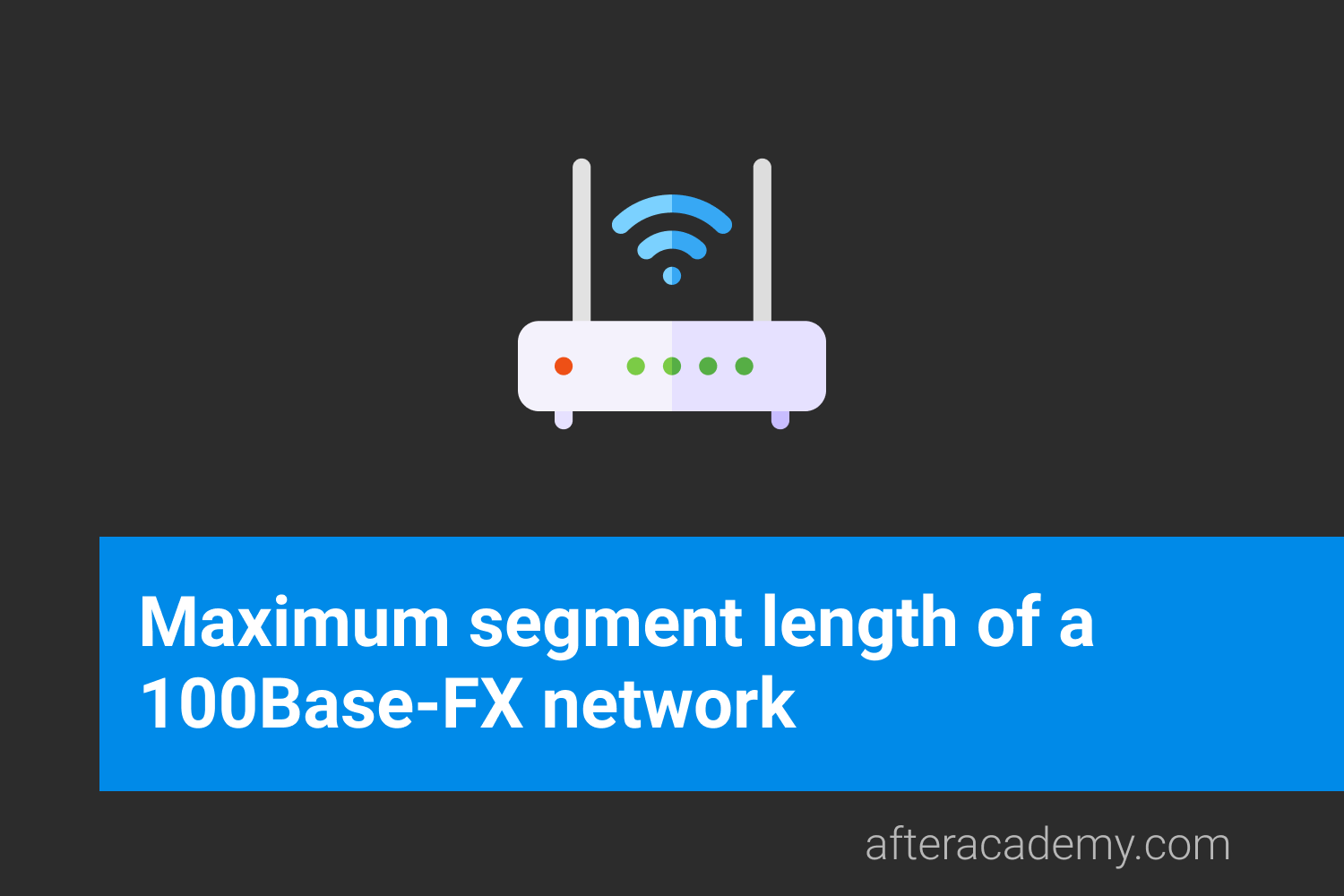 What is the maximum segment length of a 100Base-FX network?