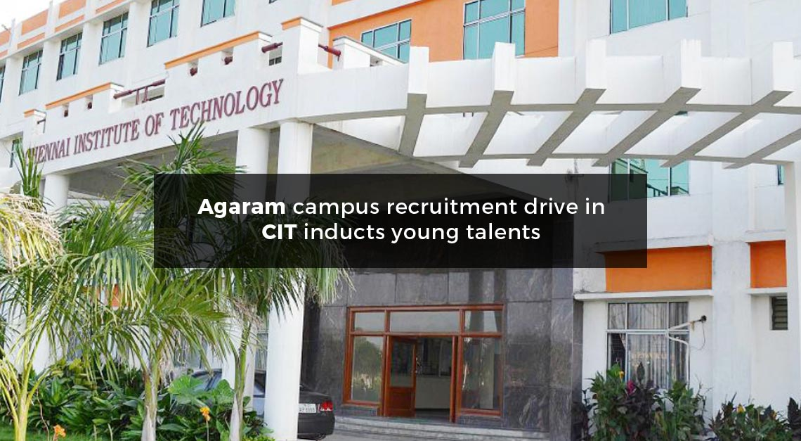 Agaram conducts Campus Recruitment Program in CIT - Agaram InfoTech