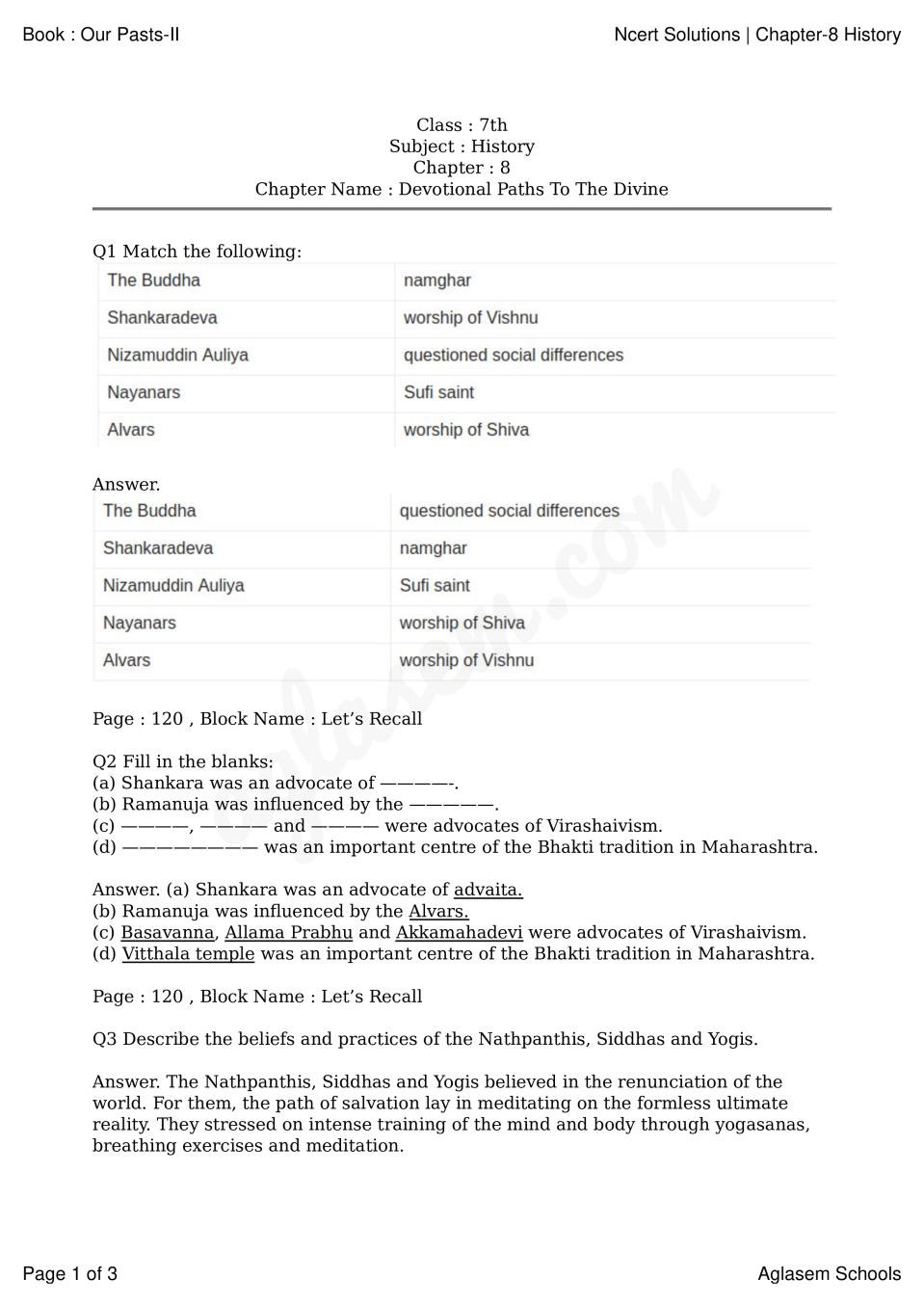 NCERT Solutions for Class 7 Social Science (History - Our