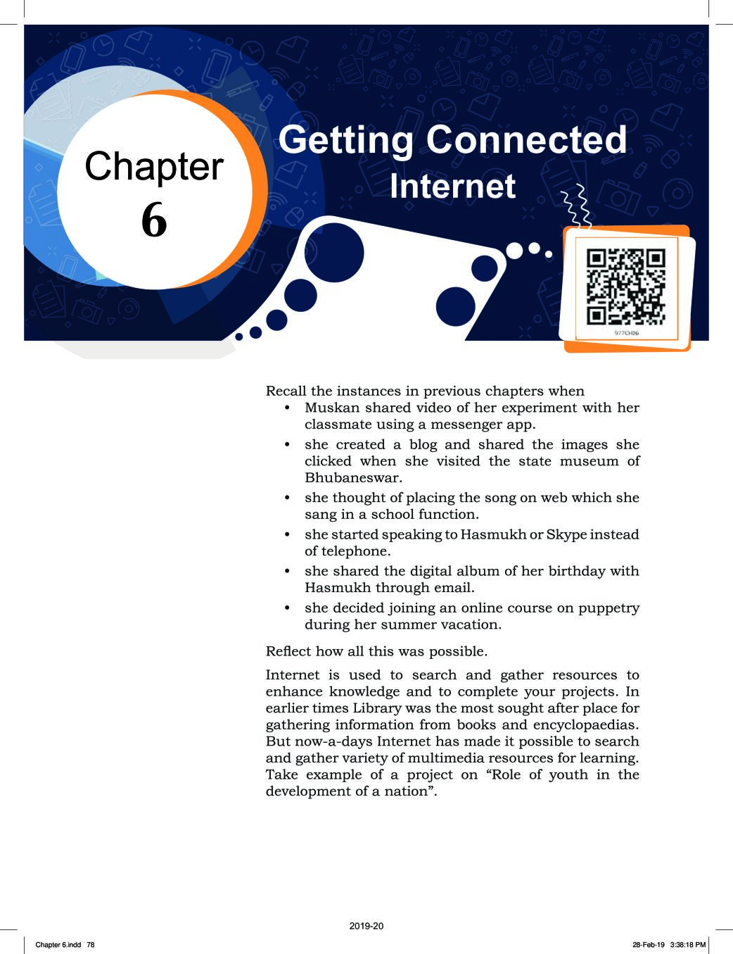 NCERT Book Class 9 ICT Chapter 6 Getting Connected: Internet