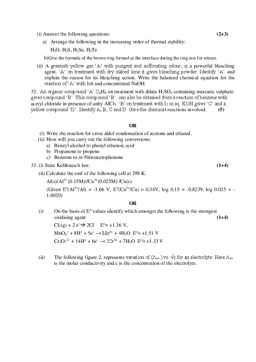 CBSE Sample Papers 2021 for Class 12 – Chemistry