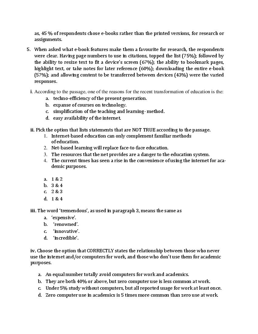 CBSE Sample Papers 2021 for Class 12 – English (Core)