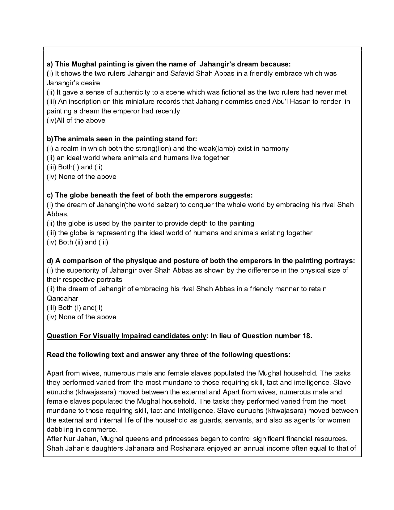 CBSE Sample Papers 2021 for Class 12 – History