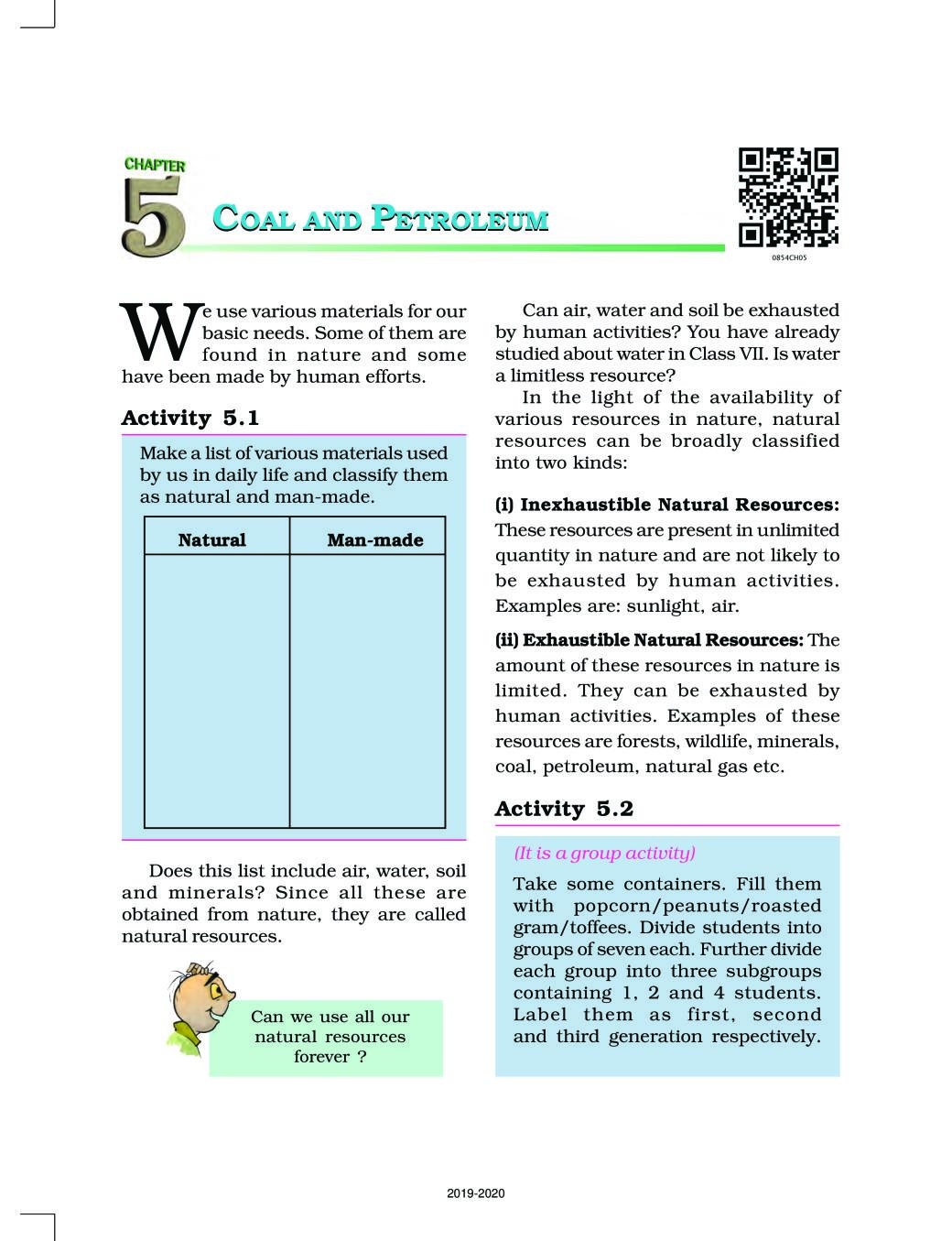 NCERT Book Class 8 Science Chapter 5 Coal and Petroleum