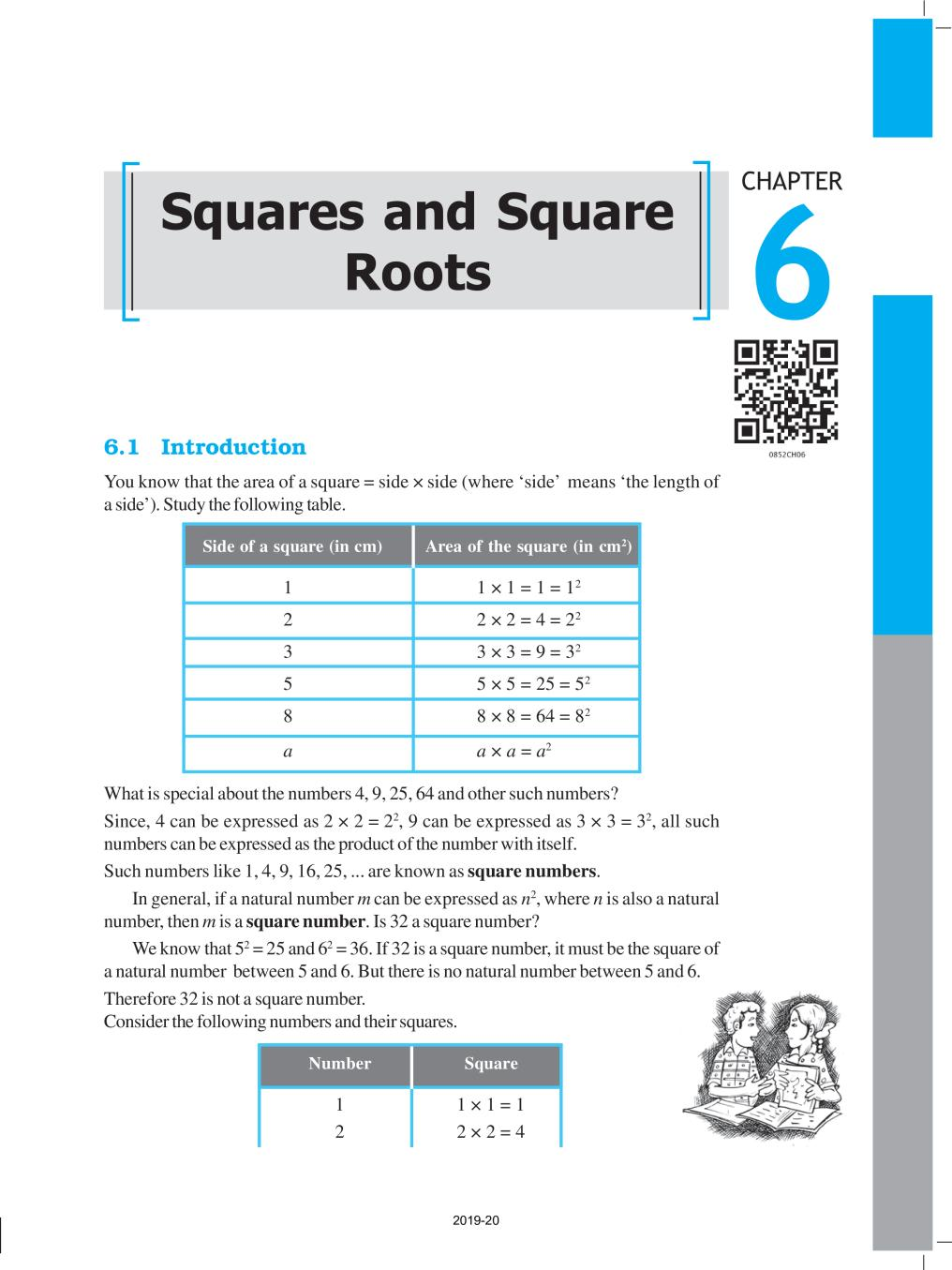 NCERT Book Class 8 Maths Chapter 6 Squares and Square Roots