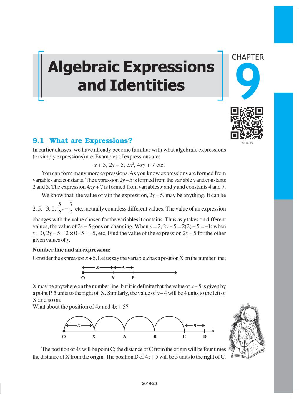 NCERT Book Class 8 Maths Chapter 9 Algebraic Expressions and Identities