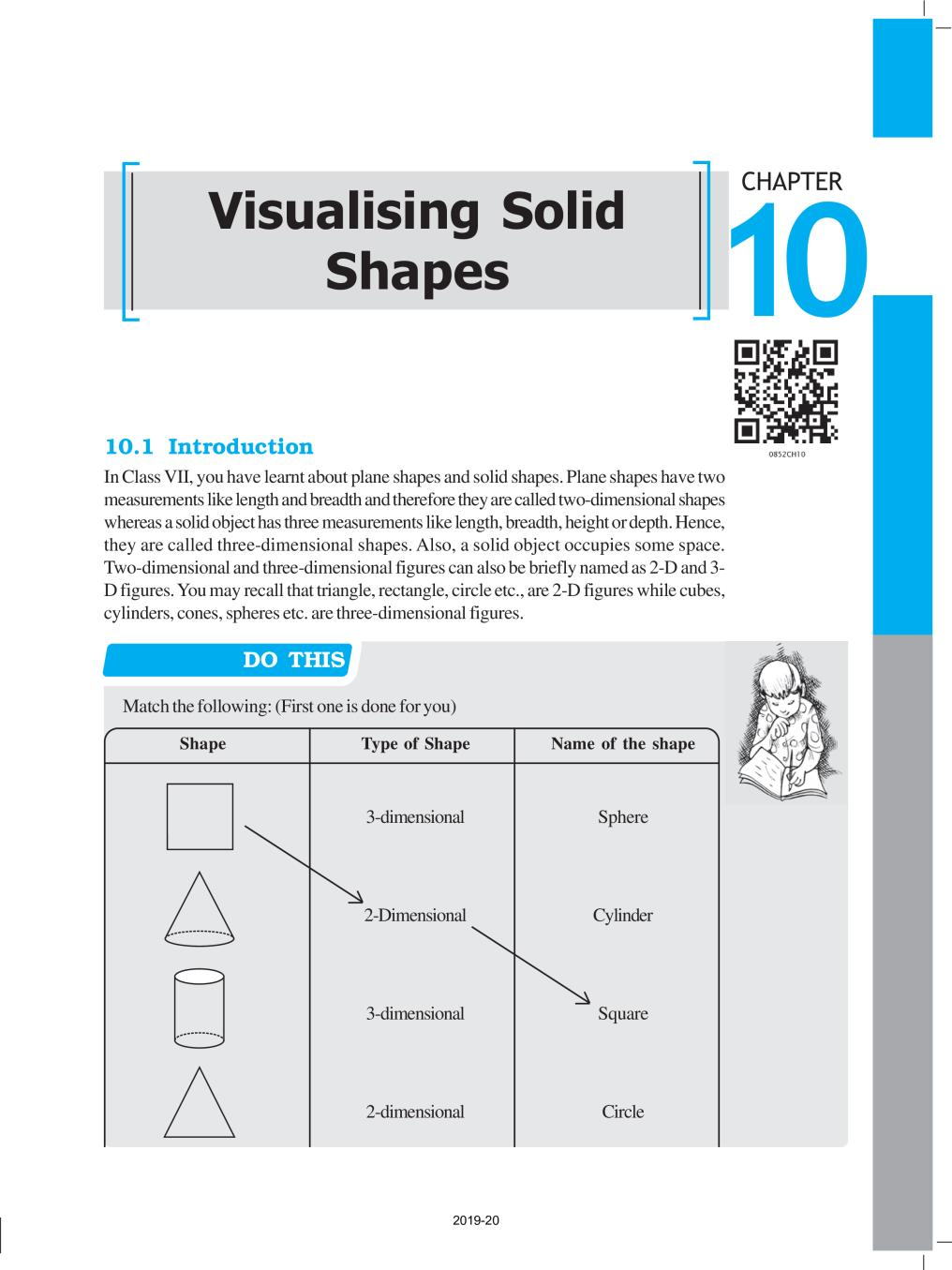 NCERT Book Class 8 Maths Chapter 10 Visualising Solid Shapes