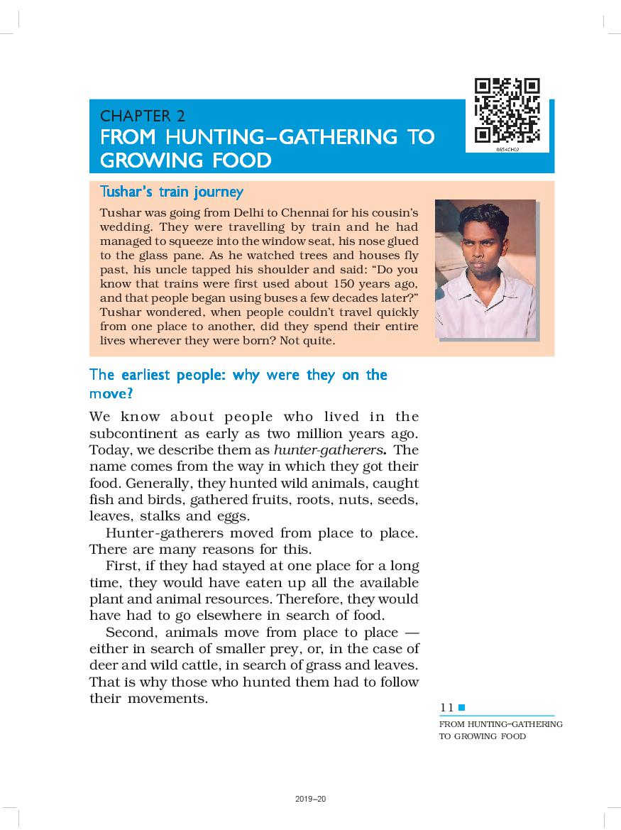 NCERT Book Class 6 History Chapter 2 From Hunting, Gathering to Growing Food