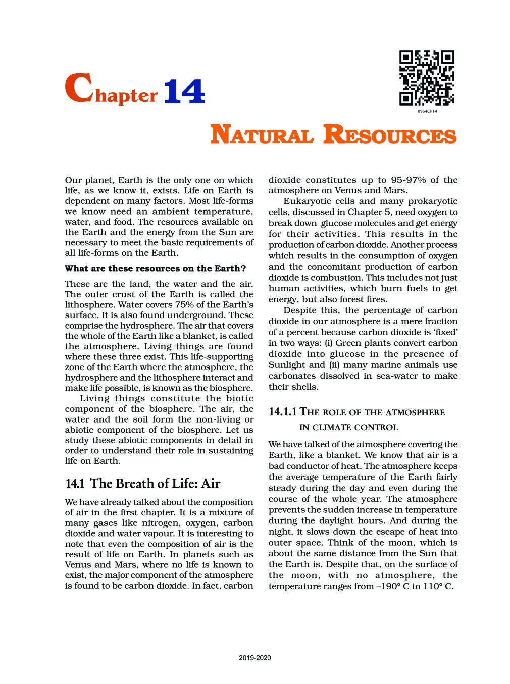 NCERT Book Class 9 Science Chapter 14 Natural Resources