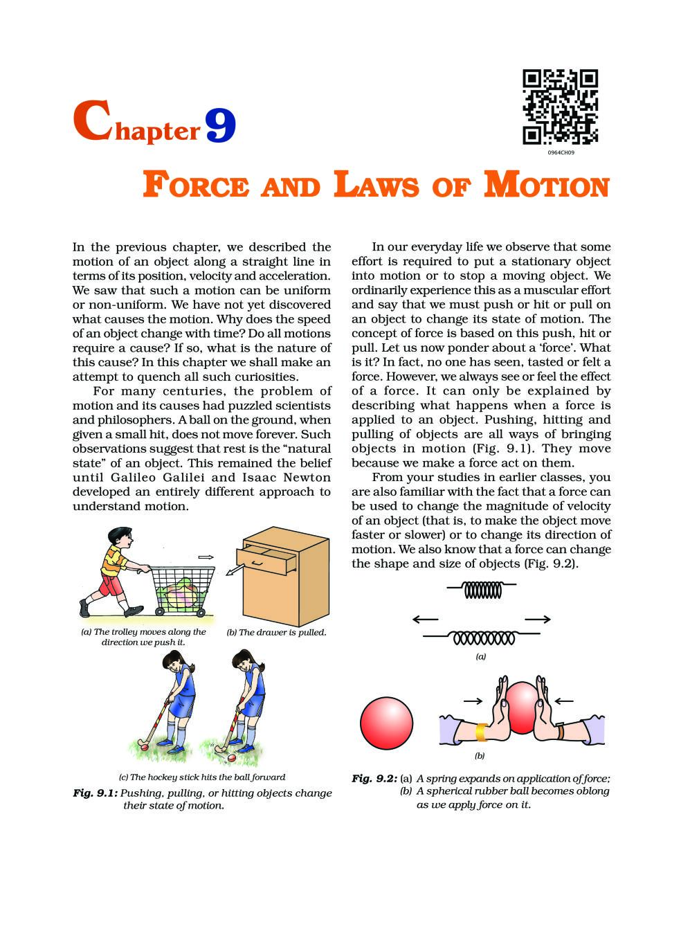 NCERT Book Class 9 Science Chapter 9 Force And Laws Of Motion