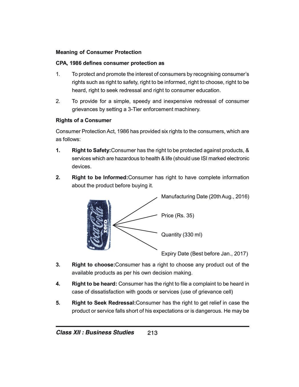 Class 12 Business Studies Notes for Consumer Protection – AglaSem