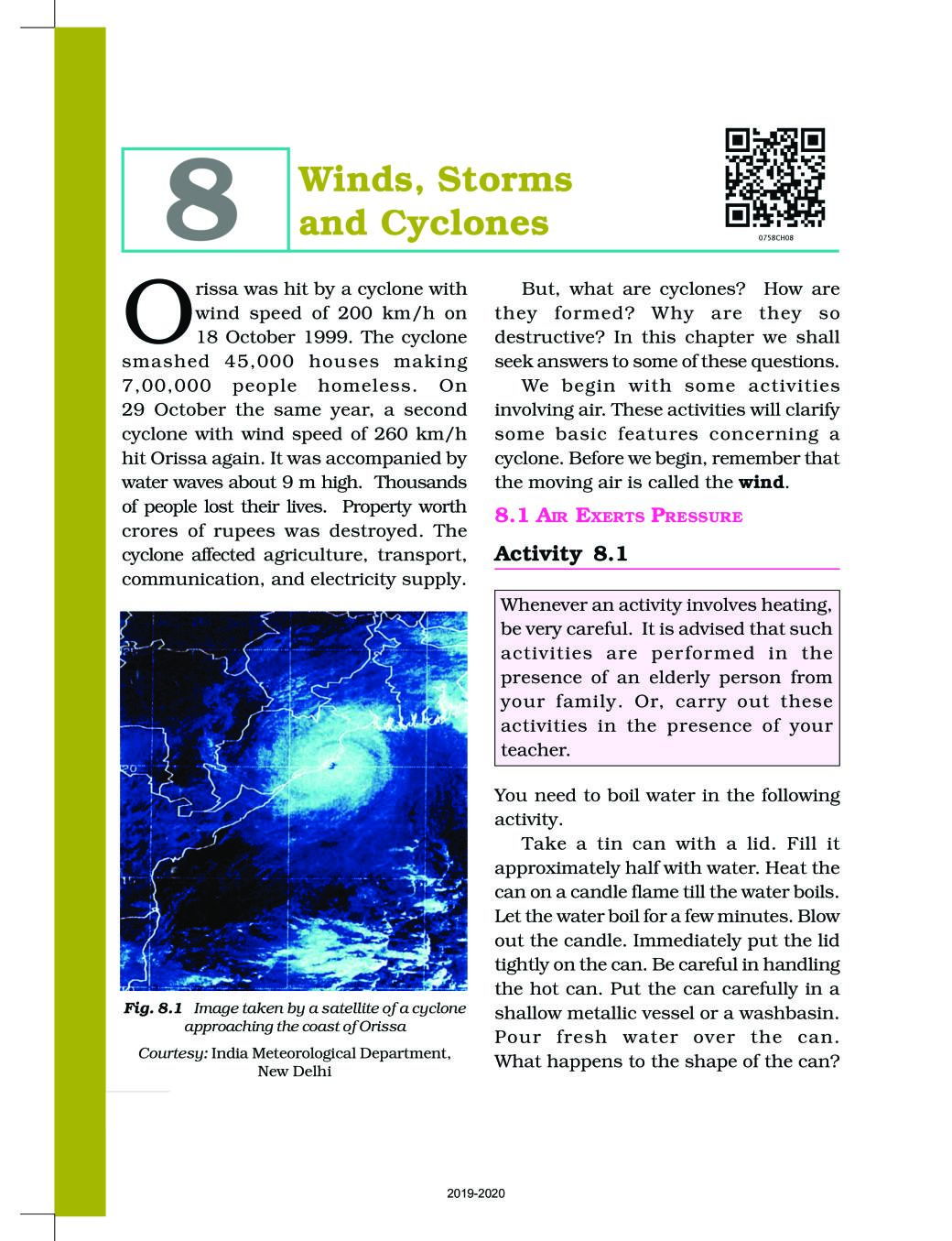 NCERT Book Class 7 Science Chapter 8 Winds Storms and Cyclones