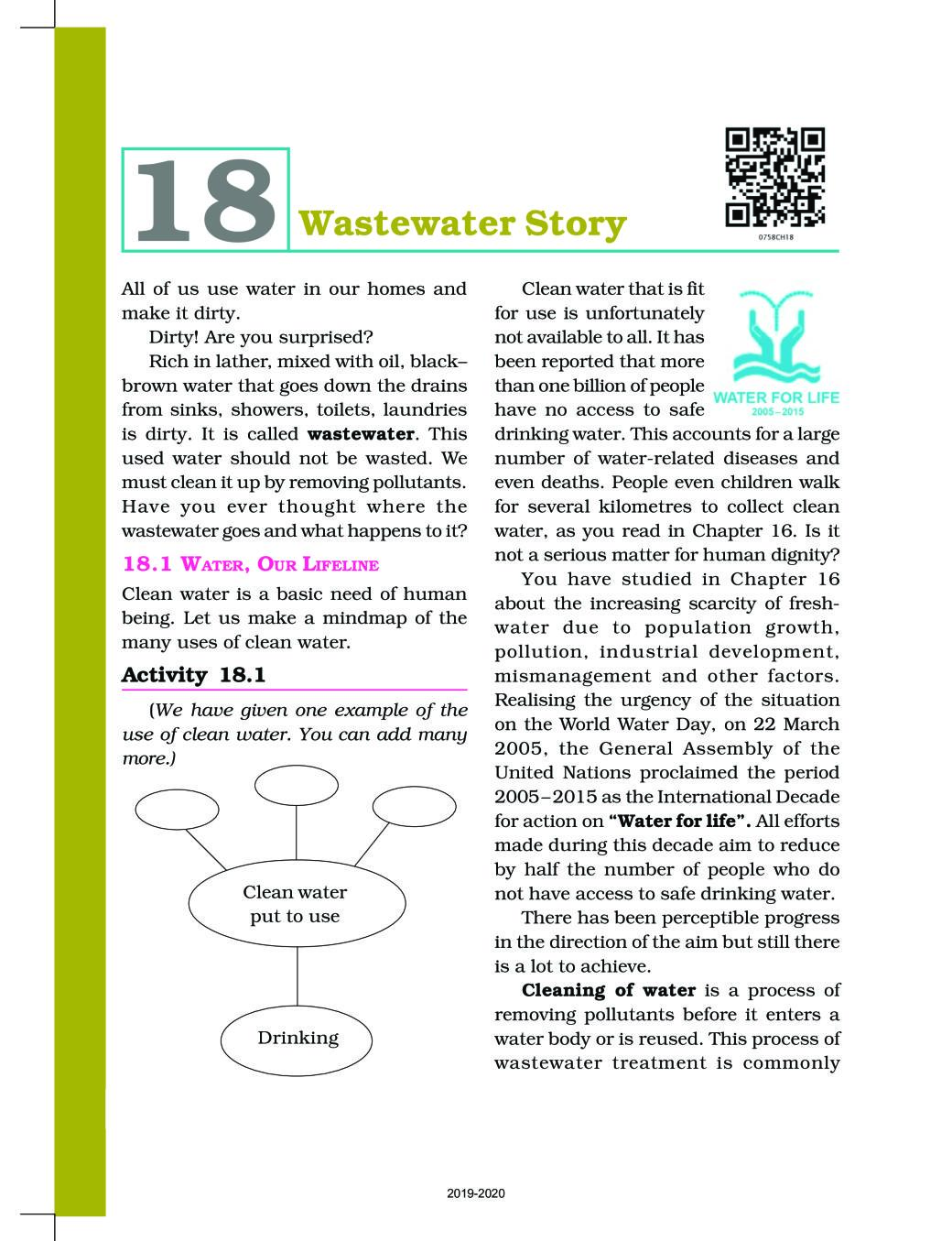 NCERT Book Class 7 Science Chapter 18 Waste Water Story