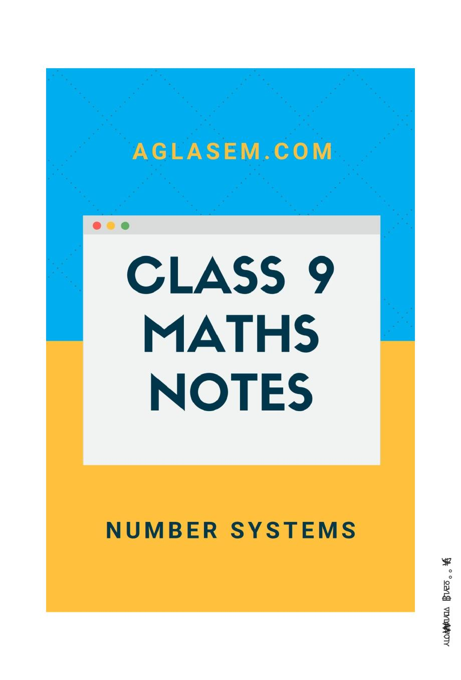 Class 9 Math Number System Notes, Important Questions & Practice Paper