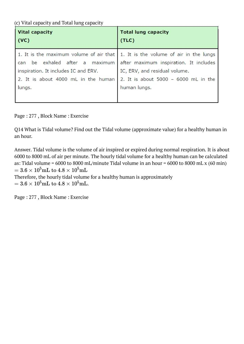 NCERT Solutions for Class 11 Biology Chapter 17 Breathing
