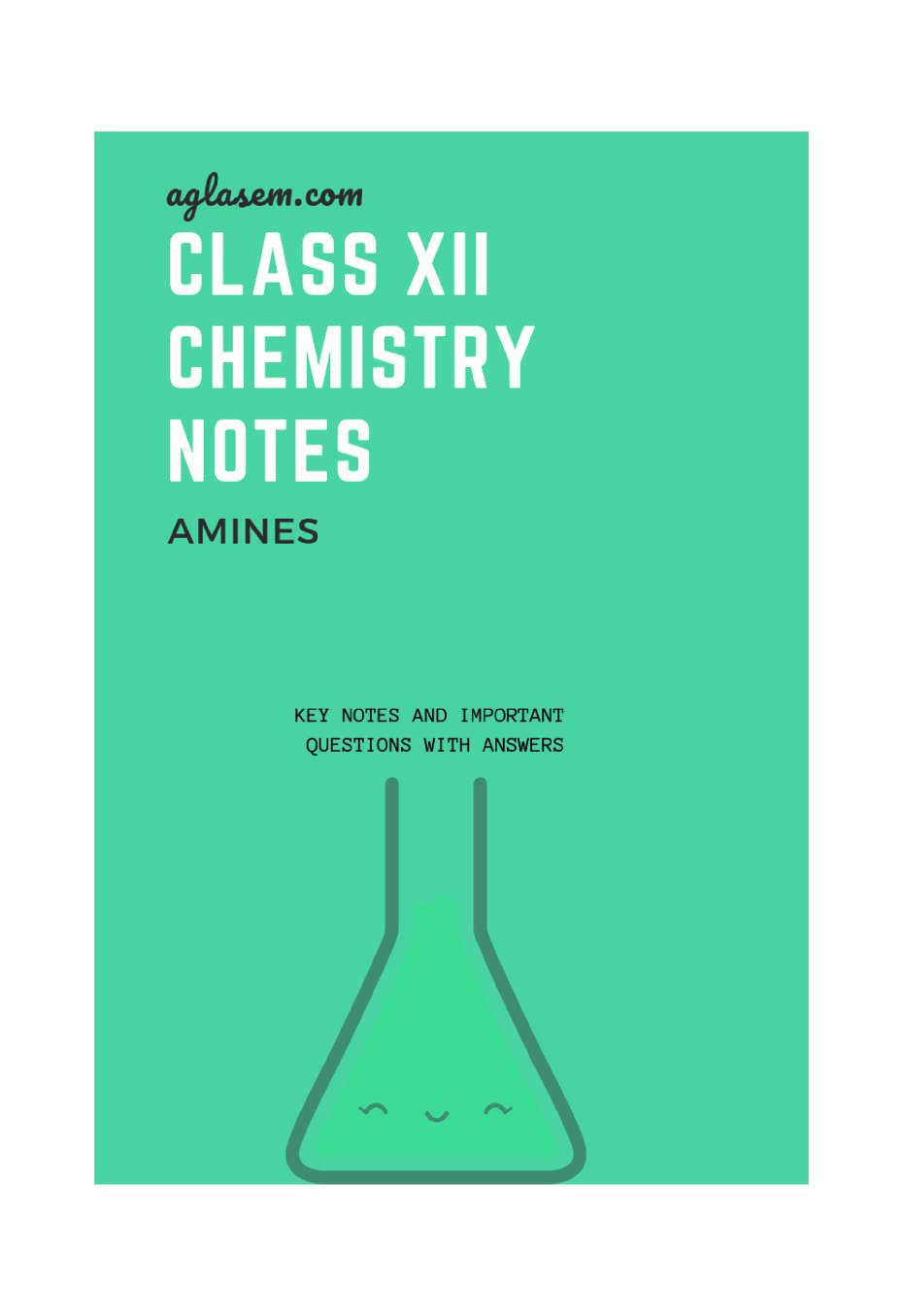 Class 12 Chemistry Notes for Amines