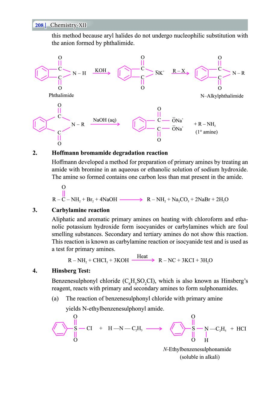 Class 12 Chemistry Notes for Amines – AglaSem Schools