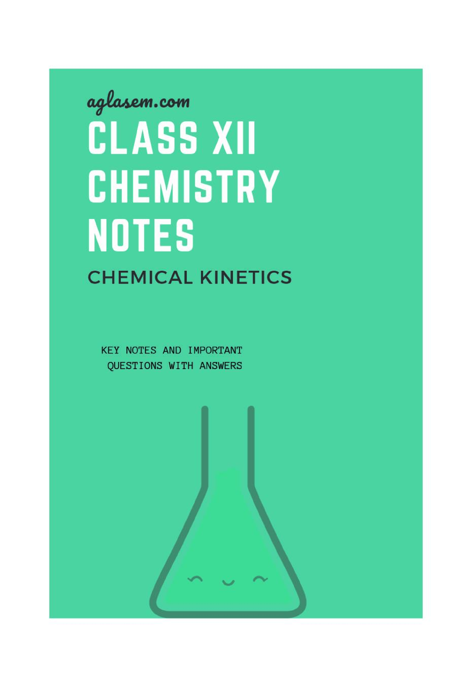 Class 12 Chemistry Notes for Chemical Kinetics