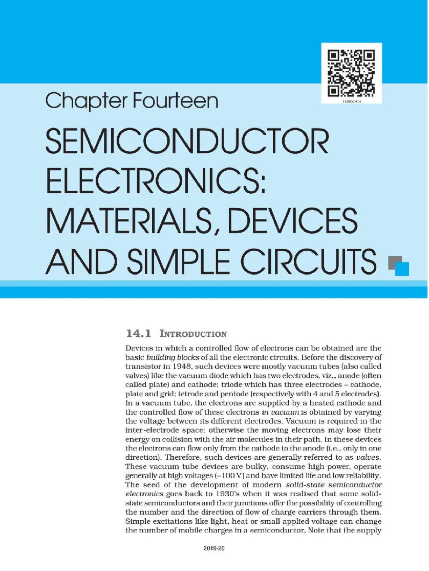 NCERT Book Class 12 Physics Chapter 14 Semiconductor Electronics: Materials, Devices and Simple Circuits