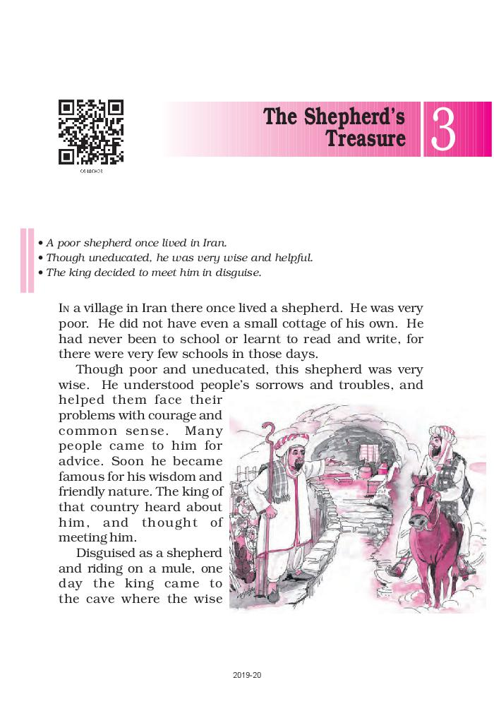 NCERT Book Class 6 English A Pact With The Sun Chapter 3 The Shepherd's Treasure
