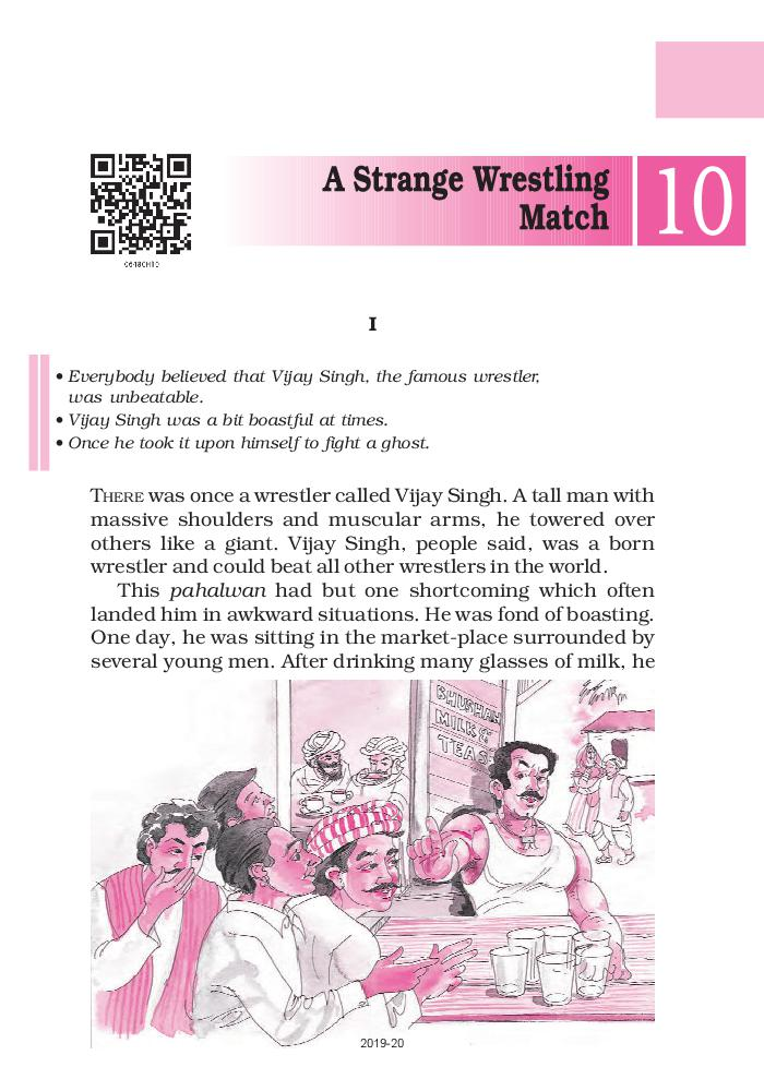 NCERT Book Class 6 English A Pact With The Sun Chapter 10 A Strange Wrestling Match