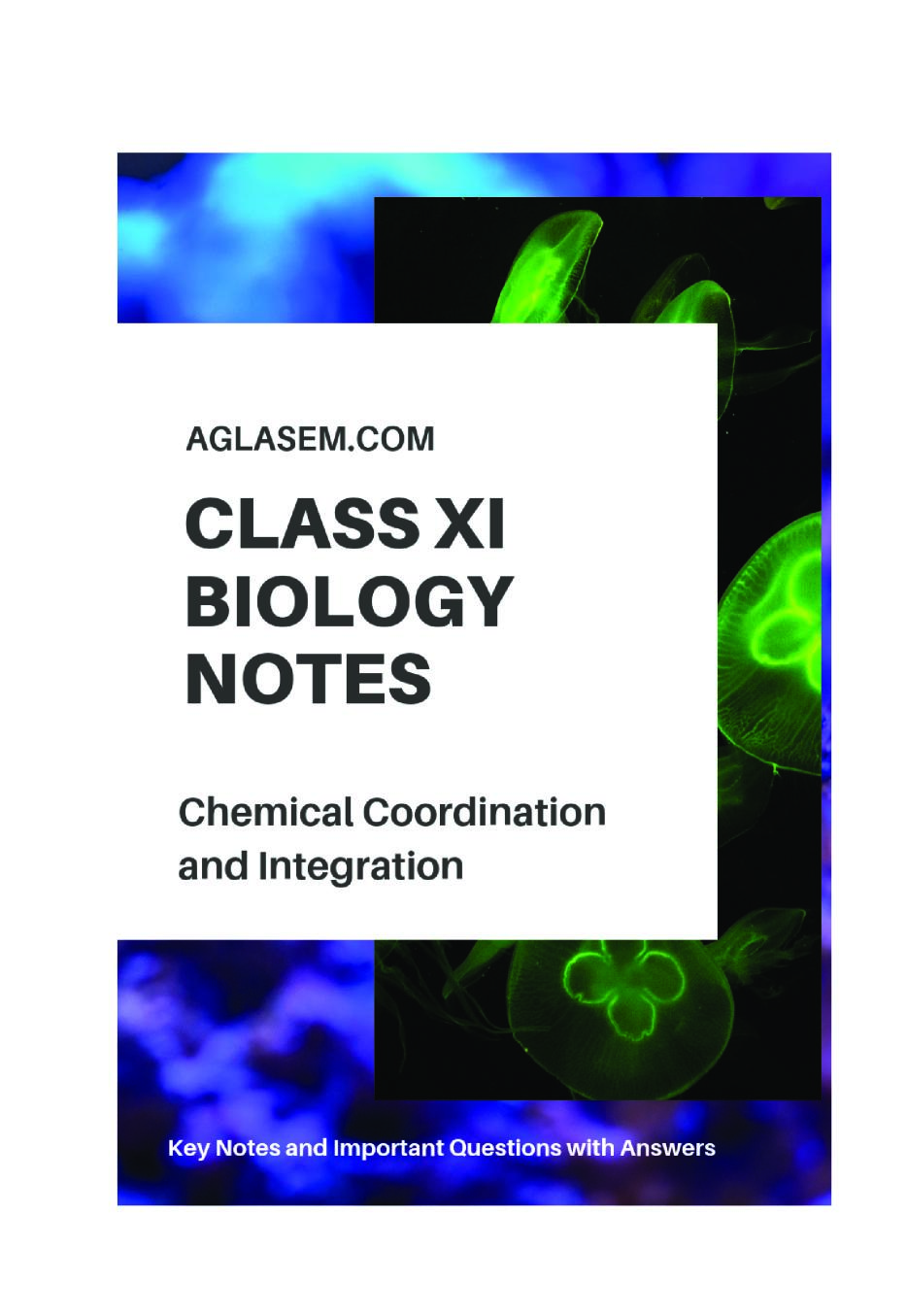 Class 11 Biology Notes for Chemical Coordination and Integration