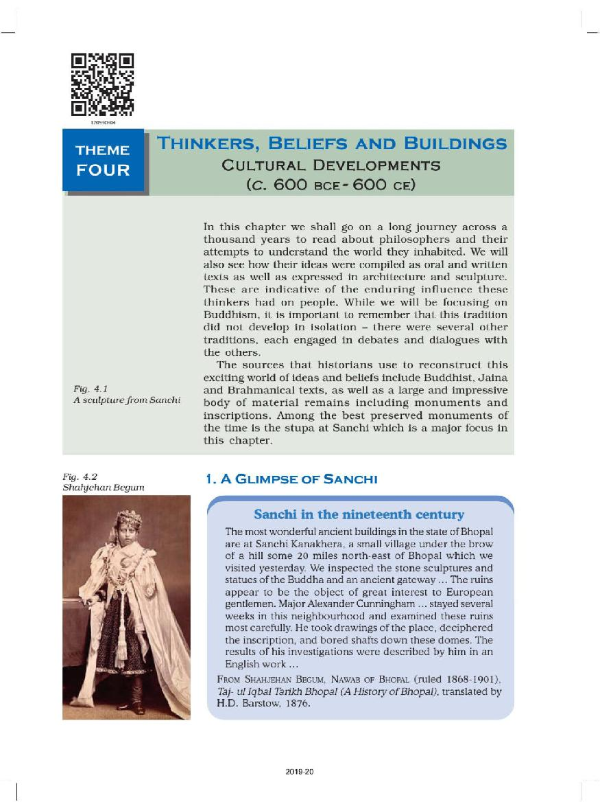 NCERT Book Class 12 History Chapter 4 Thinkers, Beliefs and Buildings