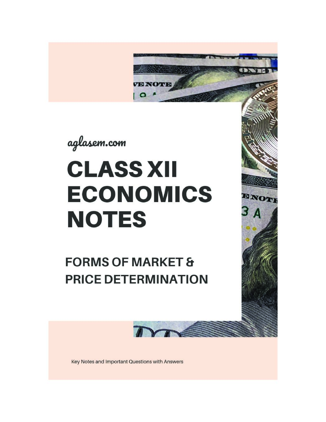 Class 12 Economics Notes for Forms of Market and Price determination