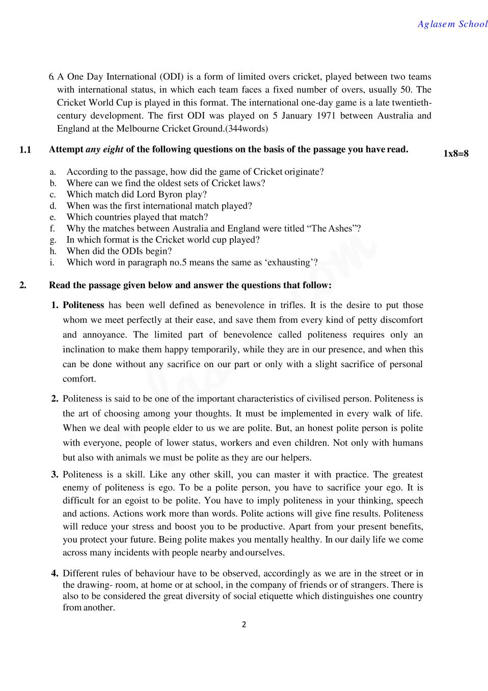 CBSE Sample Papers 2020 for Class 10 – English Communicative