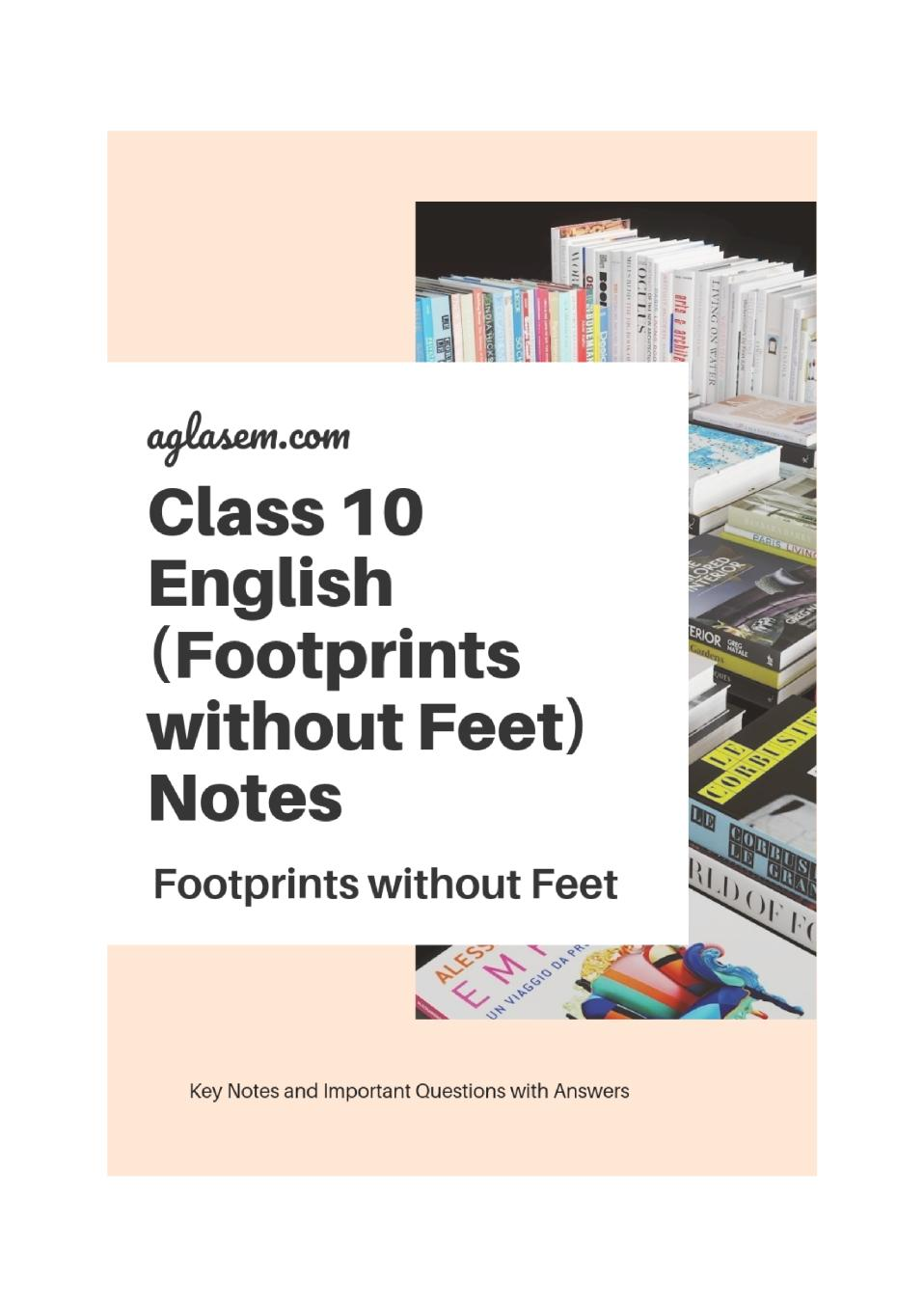 Class 10 English Footprints without Feet Notes, Important Questions & Practice Paper