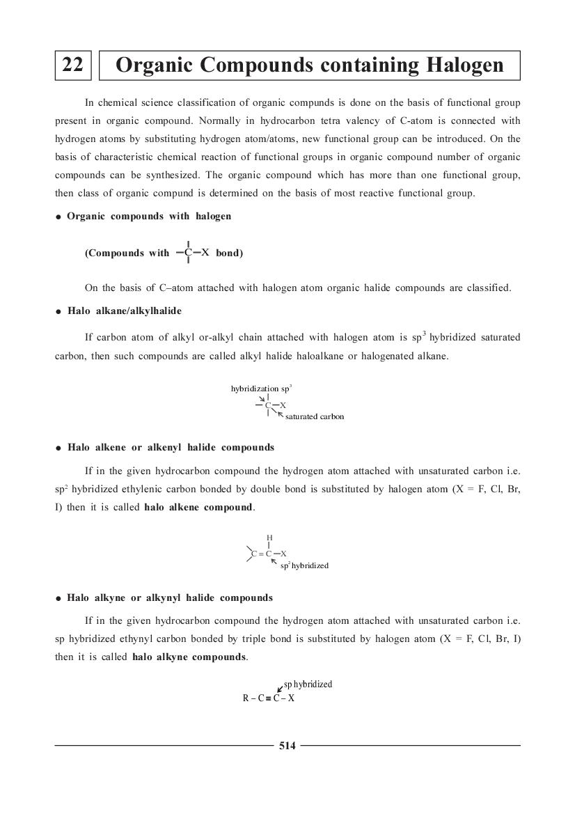 JEE NEET Chemistry Question Bank for Organic Compounds Containing Halogen