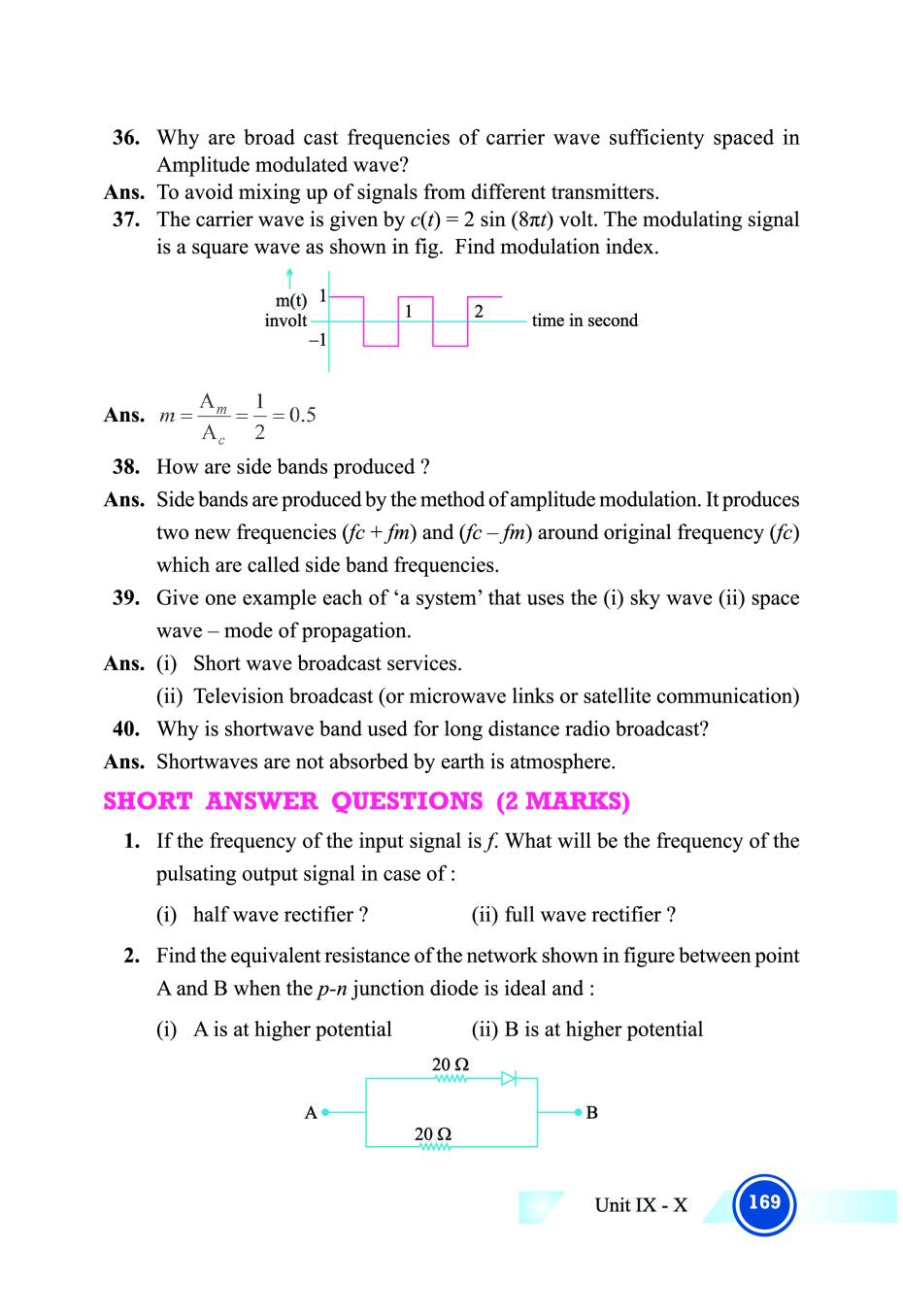 CBSE Notes Class 12 Physics Electronic Devices and