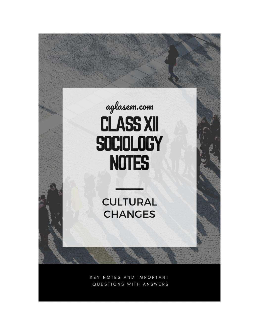 Class 12 Sociology Notes for Cultural Changes