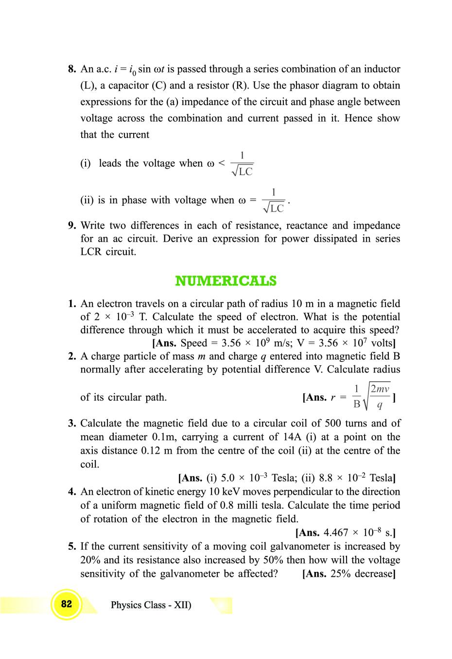 Class 12 Physics Notes for Magnetic Effects of Current And