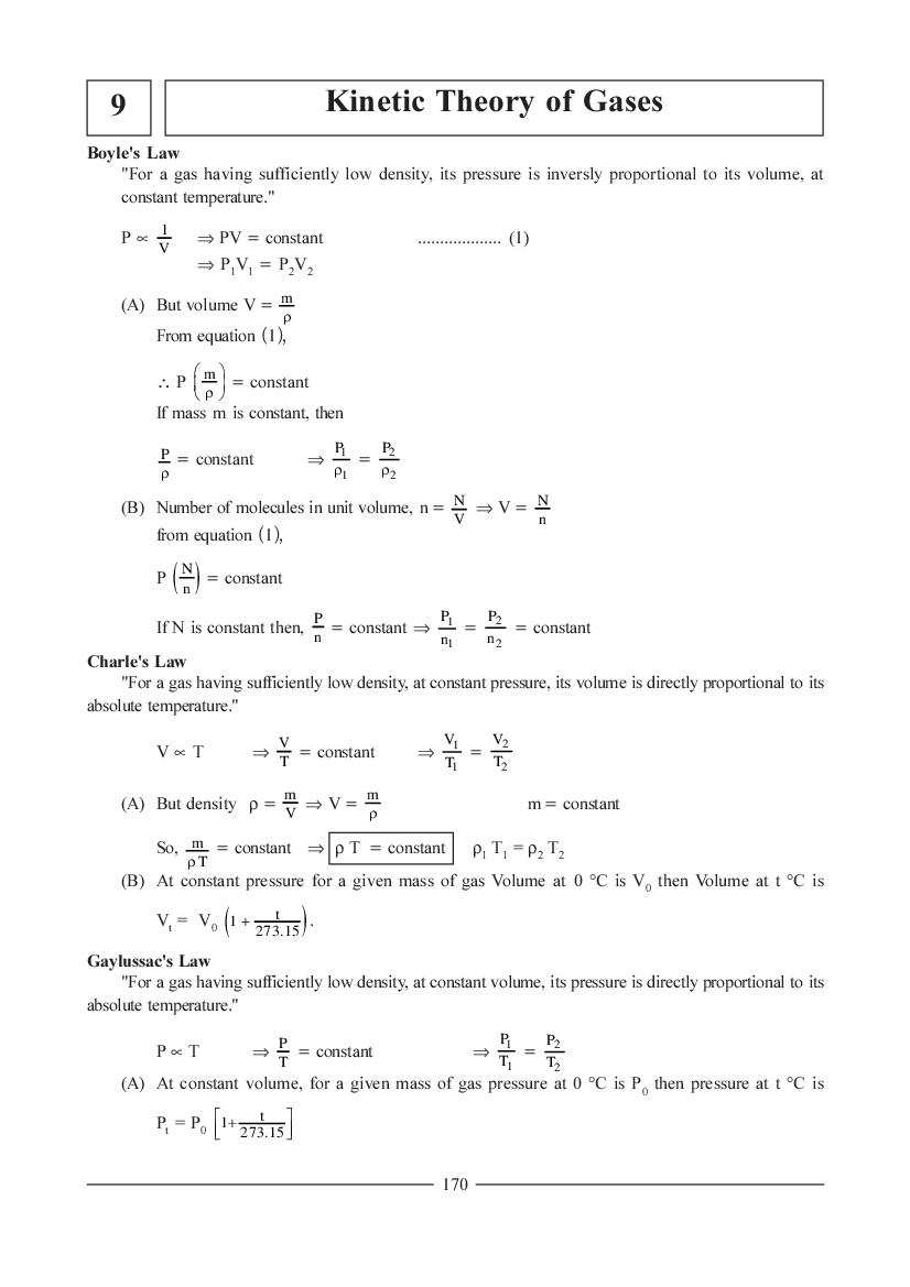 JEE NEET Physics Question Bank for Kinetic Theory of Gases