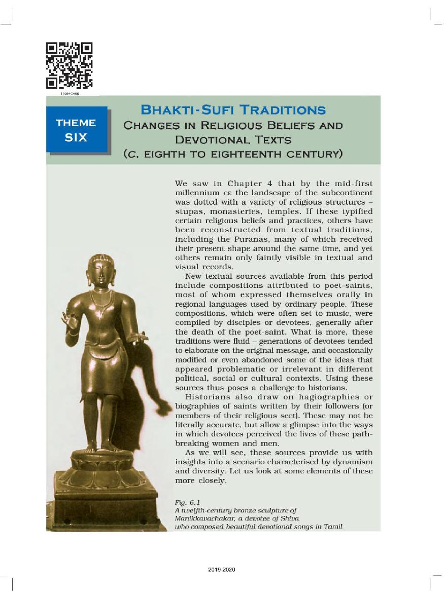 NCERT Book Class 12 History Chapter 6 Bhakti- Sufi Traditions