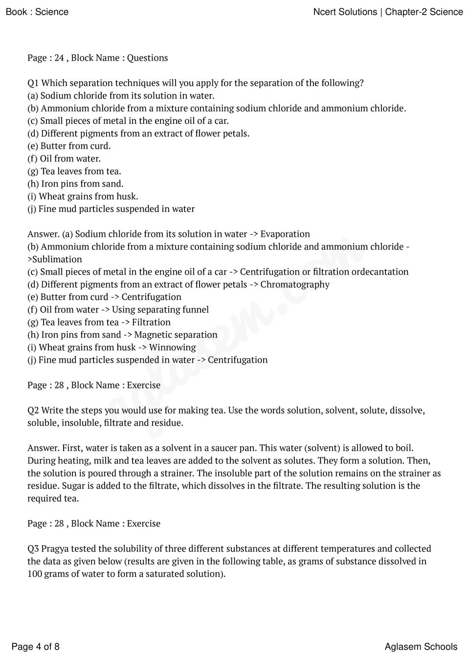 NCERT Solutions for Class 9 Science Chapter 2 Is Matter